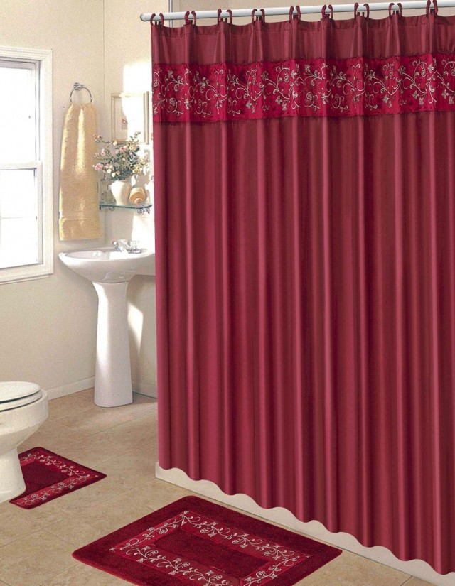 Fall Shower Curtain Set