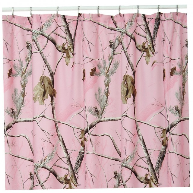 Gray And Pink Shower Curtains