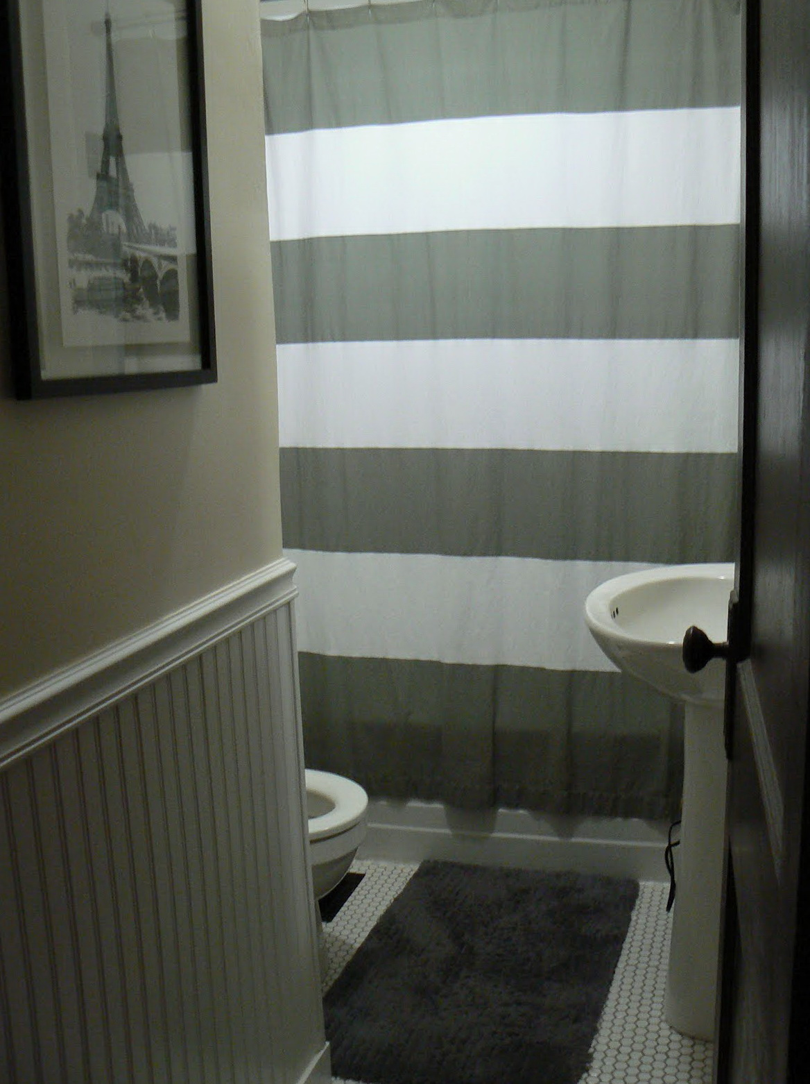 Gray Striped Curtains For Sale