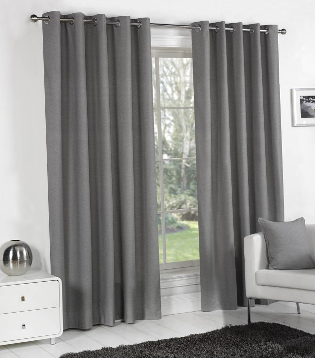 Grey Velvet Curtains Ready Made