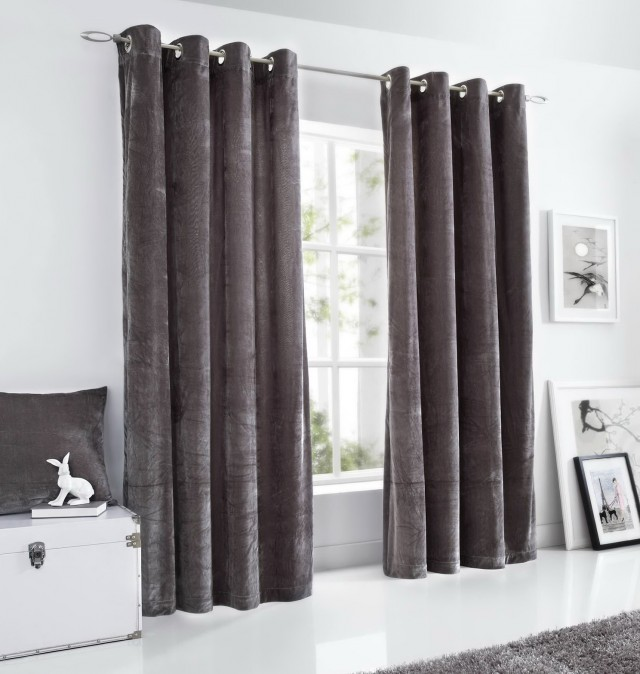 Grey Velvet Curtains Uk