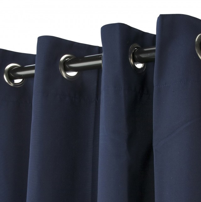 Grommet Blackout Curtains Navy