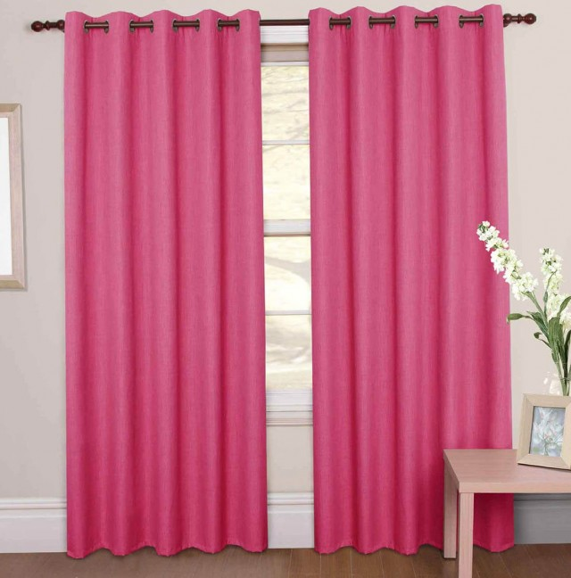 Hot Pink Curtain Panels