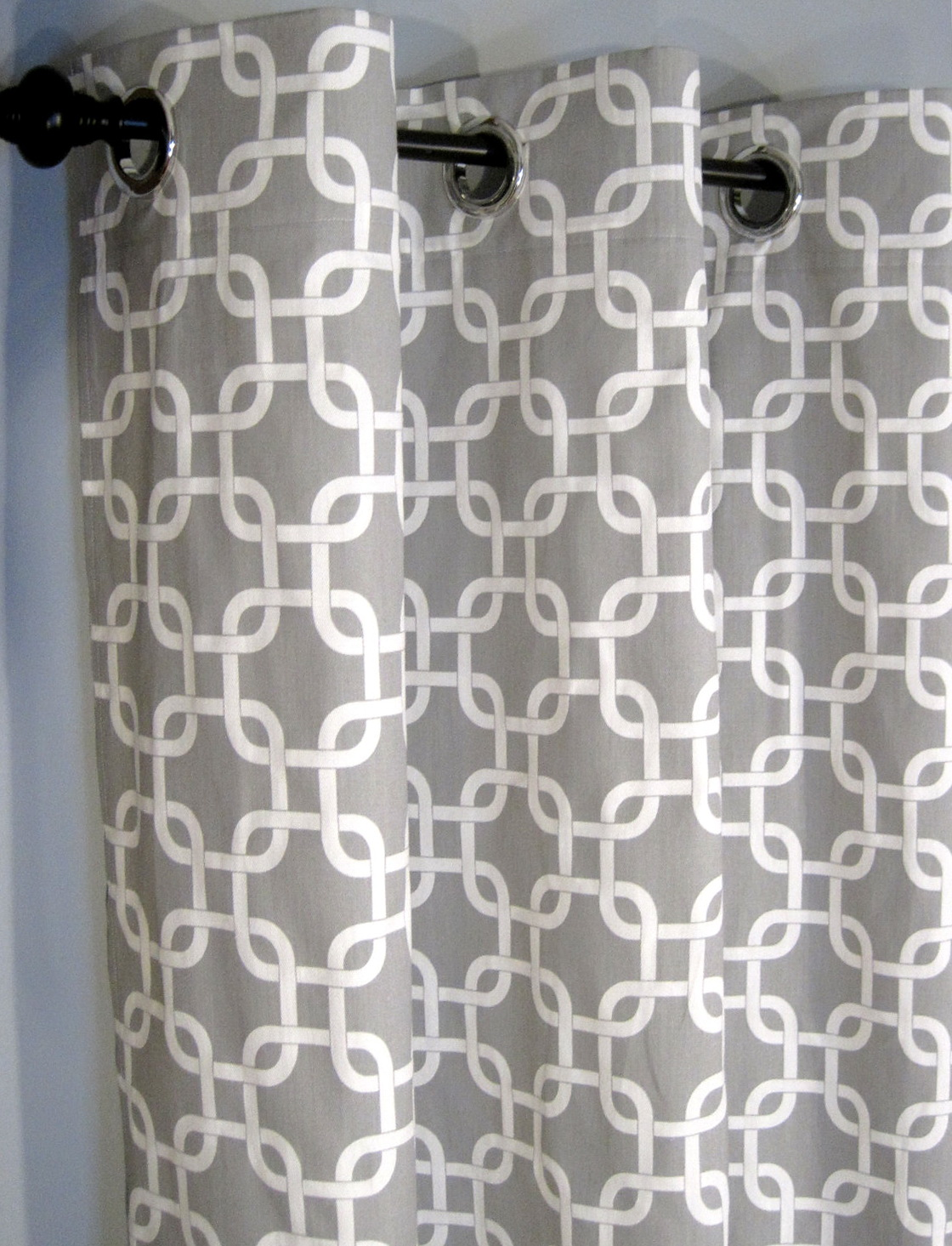Ikea Grey And White Curtains