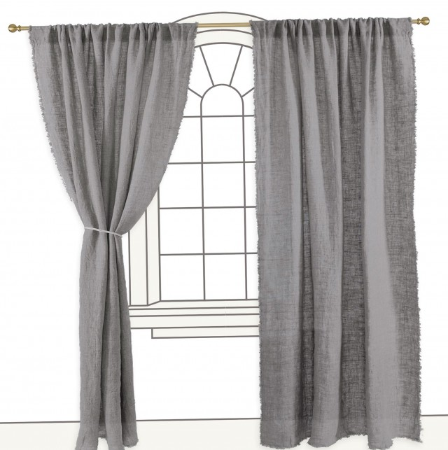 Light Grey Linen Curtains