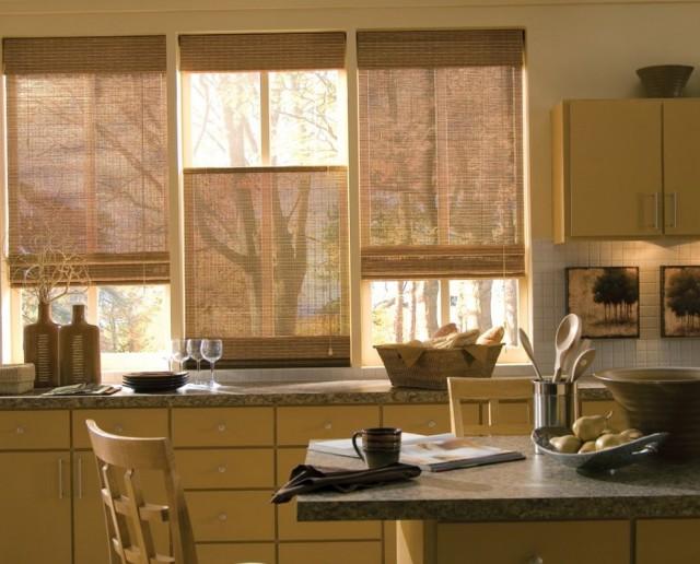 Modern White Kitchen Curtains