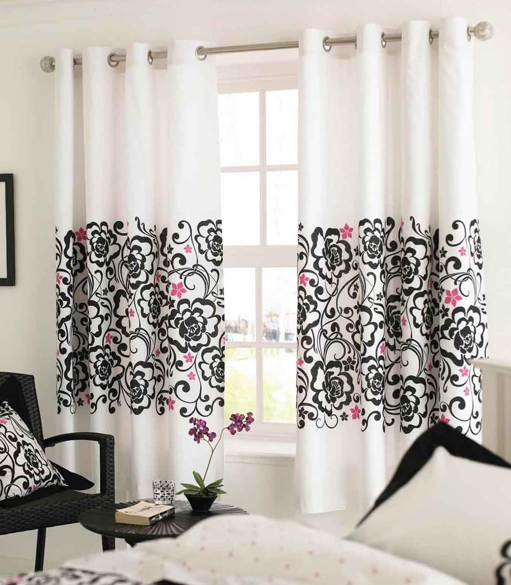 Modern White Window Curtains