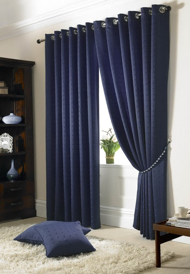 Navy Blue Blackout Curtains Walmart