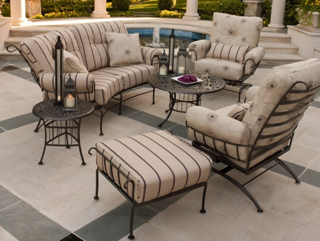 Outdoor Patio Cushions For Wrought Iron Chairs