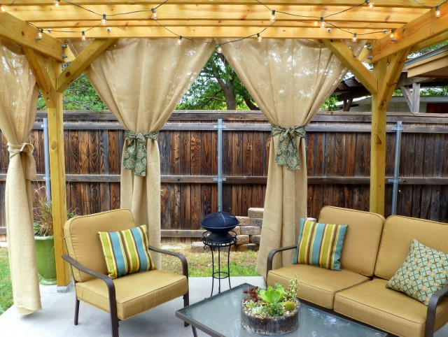 Outdoor Privacy Curtains Gazebo