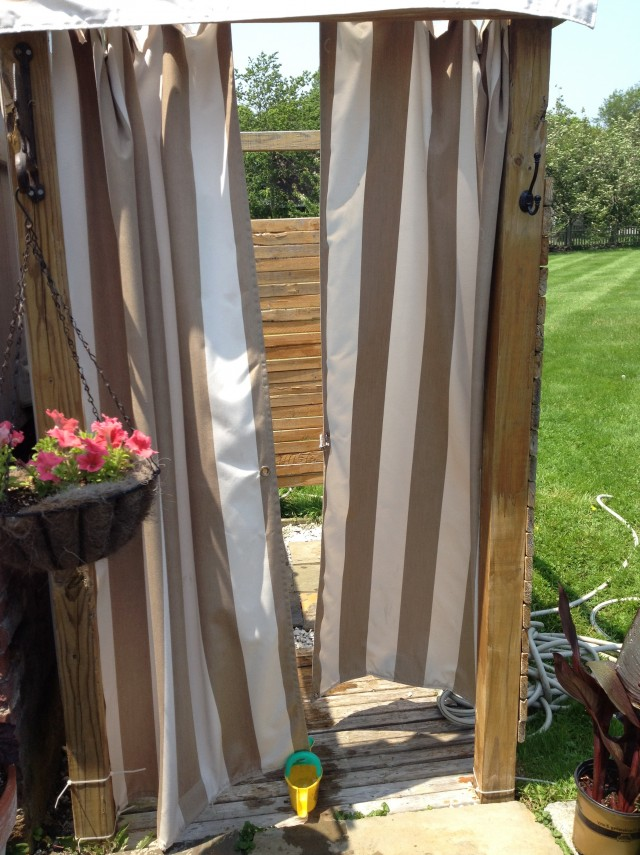 Outdoor Shower Curtain For Camper