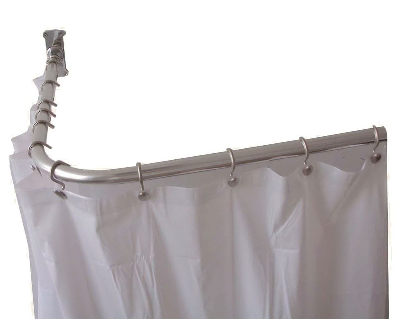 Outdoor Shower Curtain Rod U Shaped