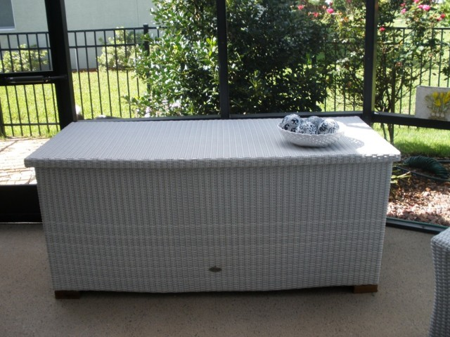 Patio Cushion Storage Bin