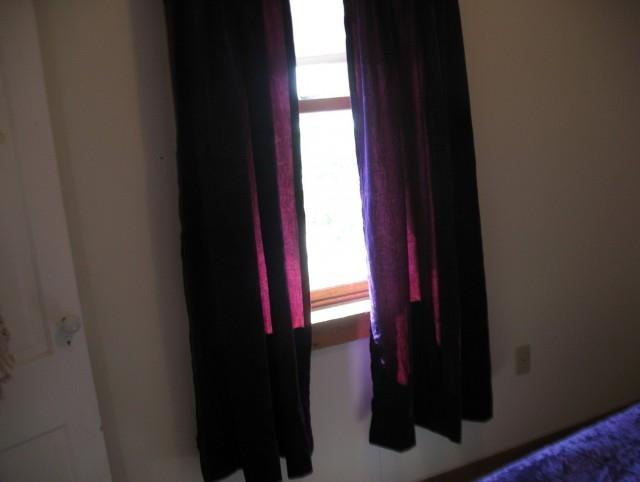Purple Crushed Velvet Curtains