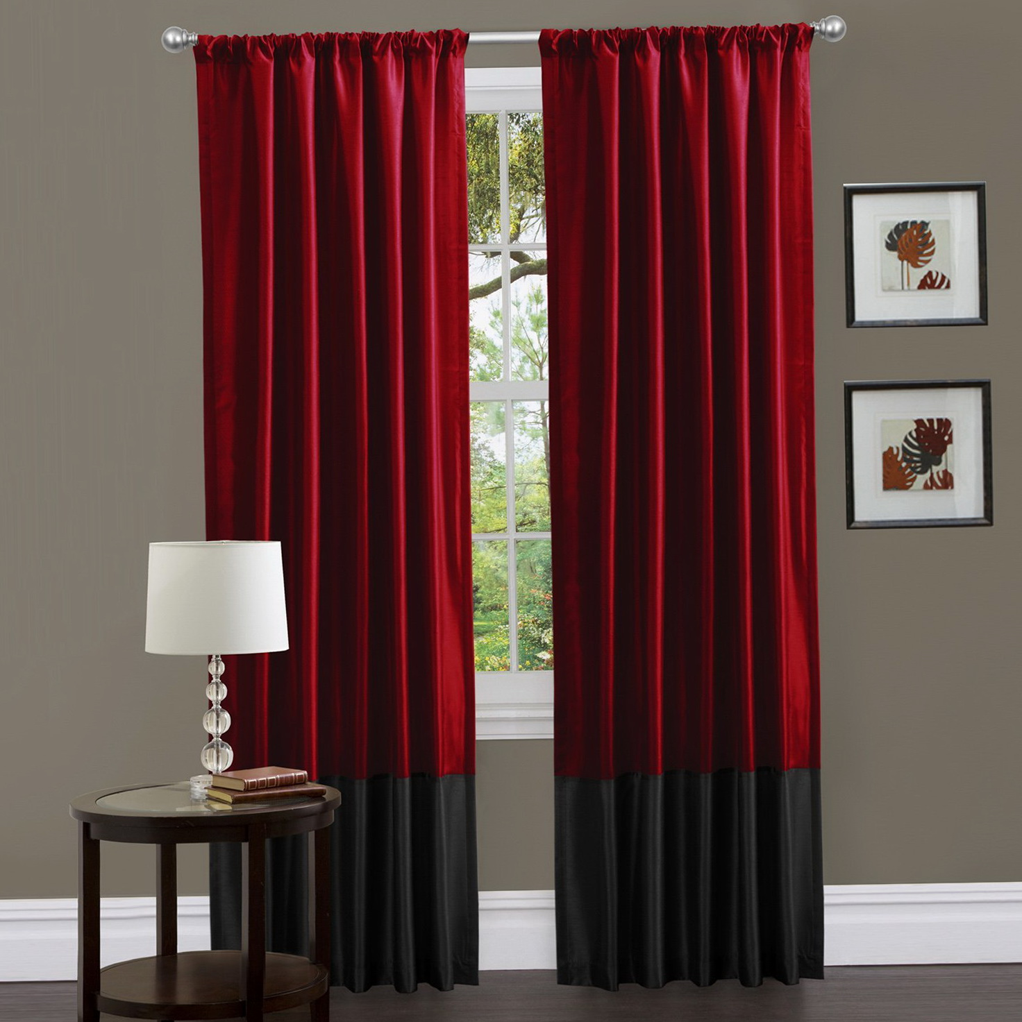 Red Blackout Curtains Canada