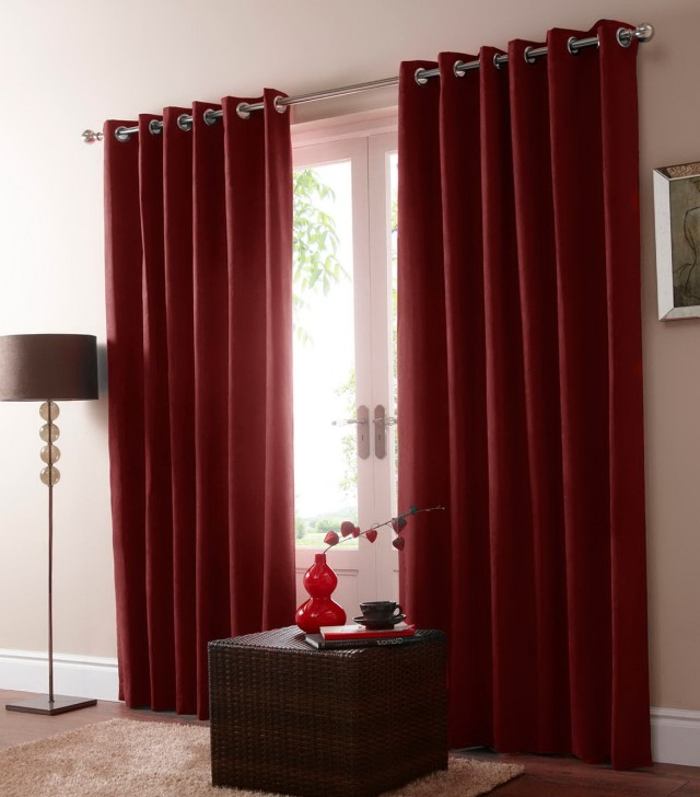 Red Blackout Curtains Uk