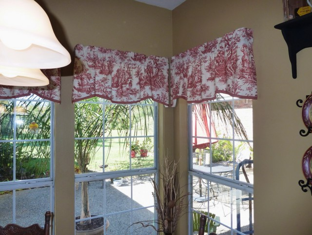 Red Kitchen Valance Curtains