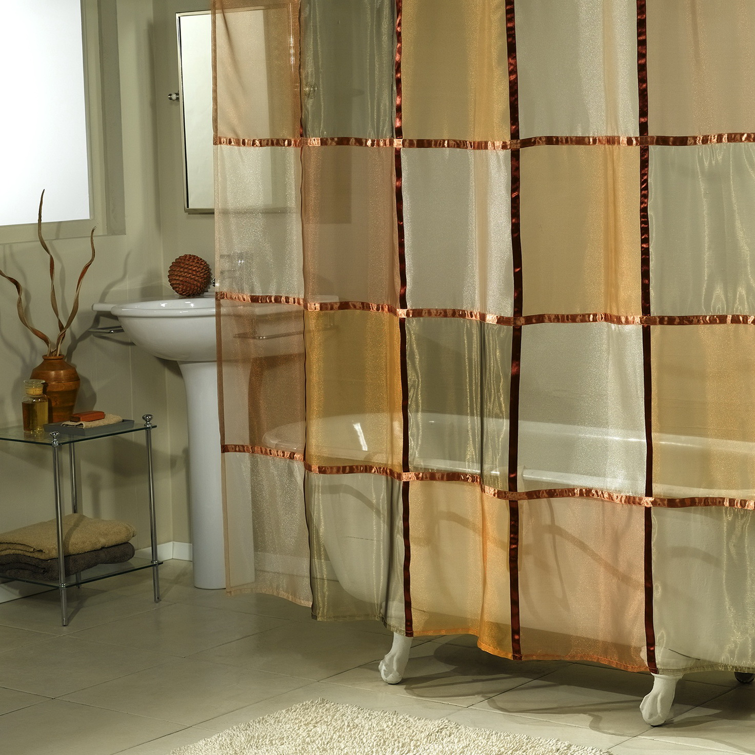 Sheer Shower Curtains Fabric