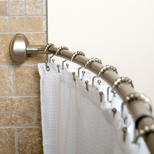 Shower Curtain Length For Curved Rod