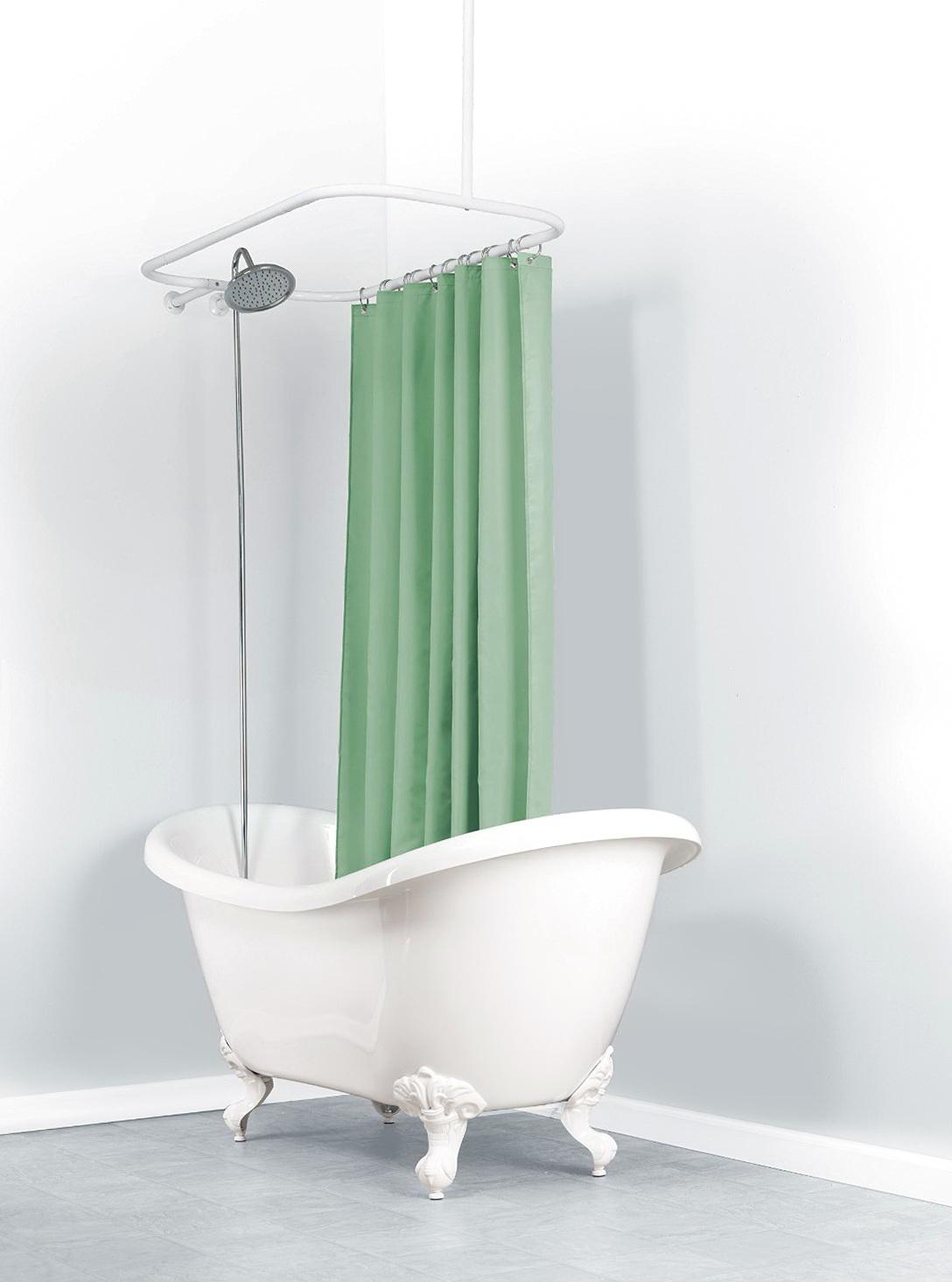 Shower Curtain Rod For Clawfoot Tub Canada