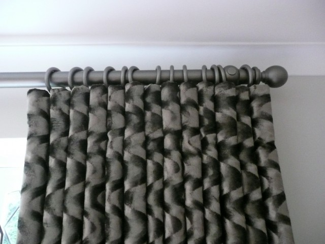 Silver Grey Patterned Curtains