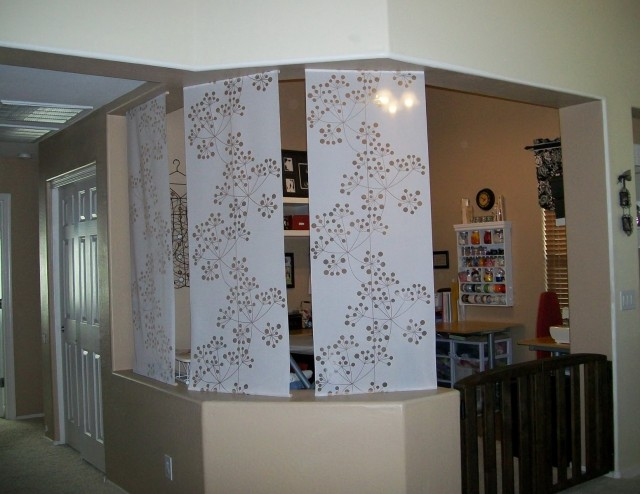 Sliding Panel Curtains Room Divider