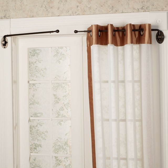Swing Curtain Rods For French Doors