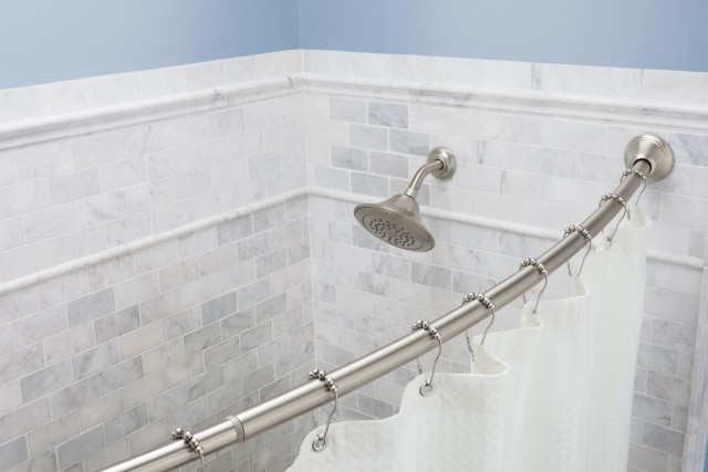 Tension Shower Curtain Rod Brushed Nickel