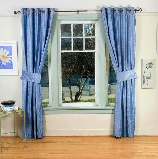 Tiffany Blue Window Curtains