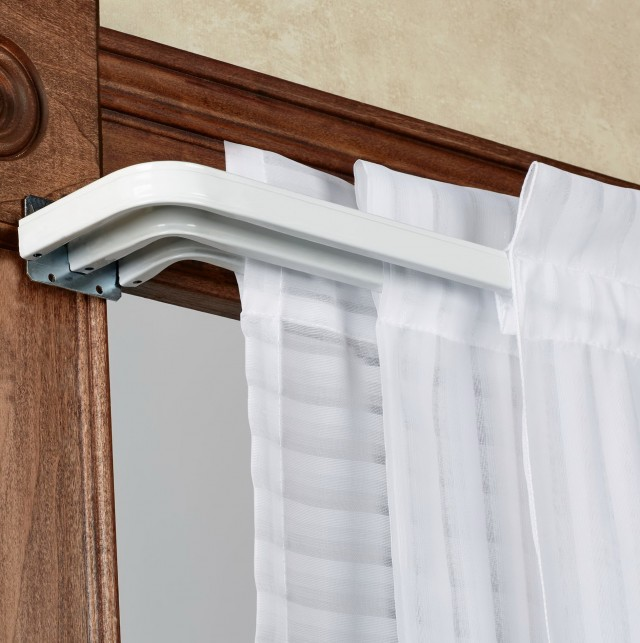 Triple Curtain Rod Brackets