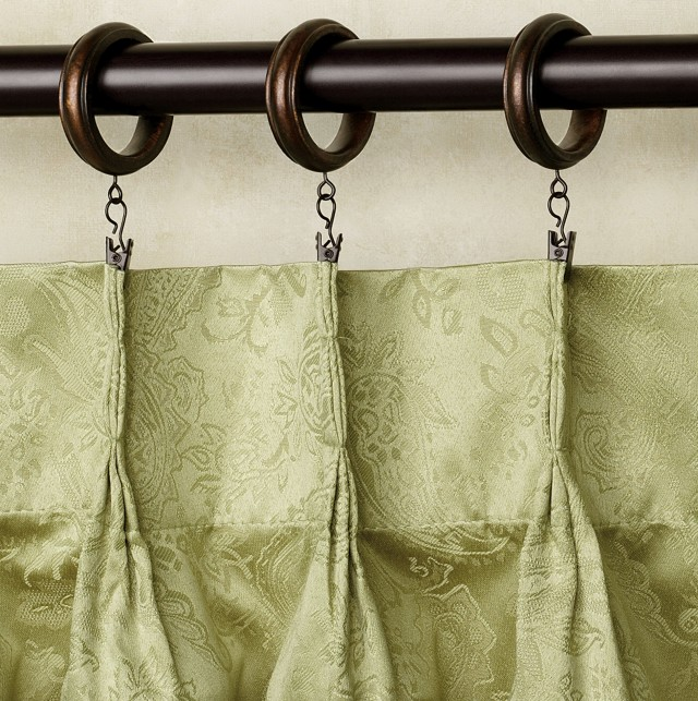 Wooden Curtain Rings With Clips