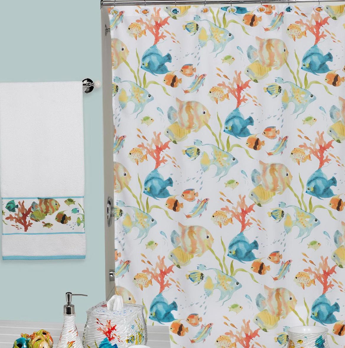 World Map Shower Curtain Fabric