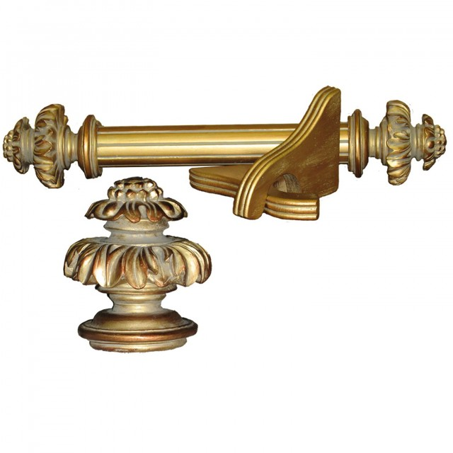 2 Inch Curtain Rods Wood