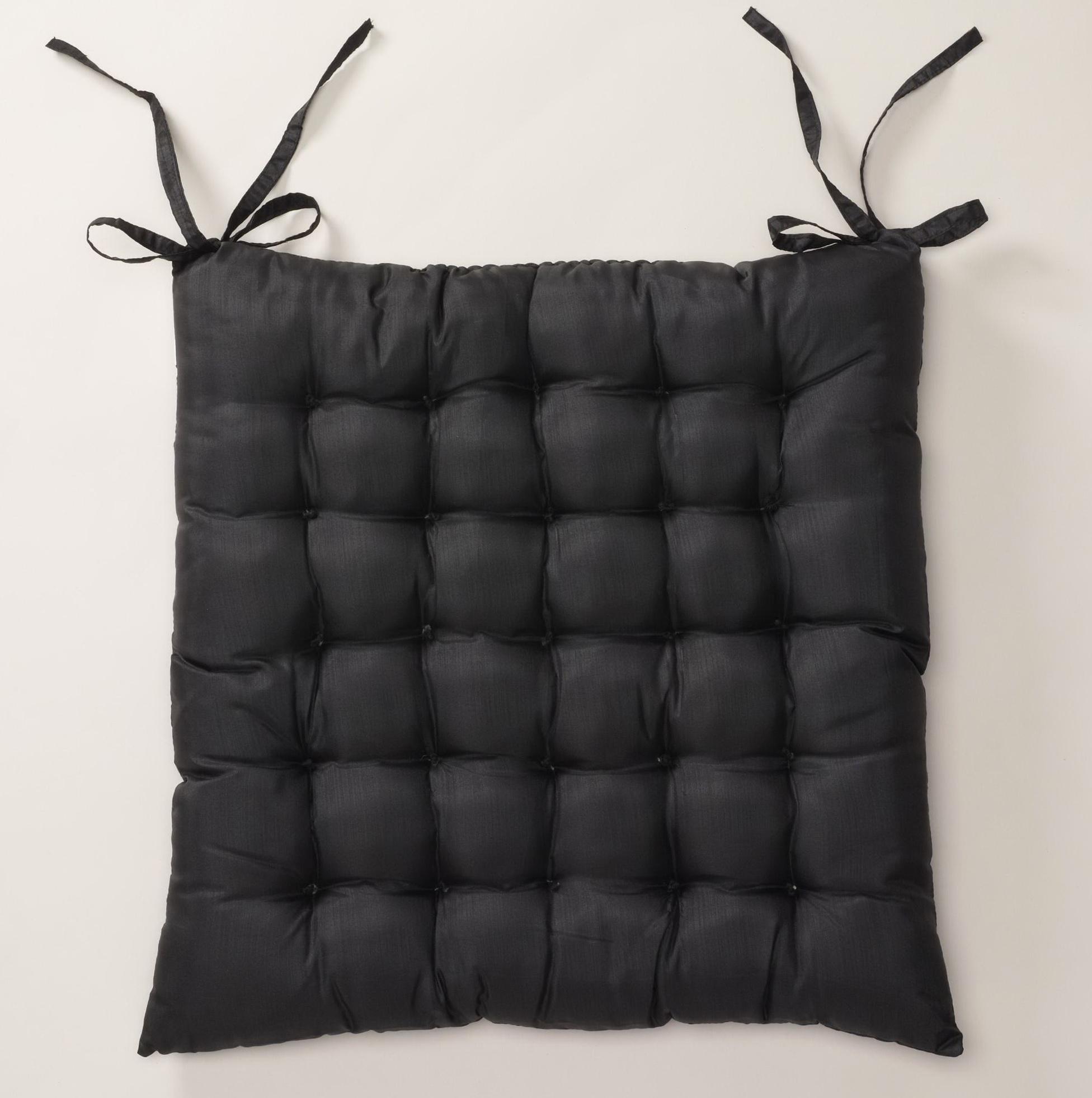 Black Chair Cushions Pads