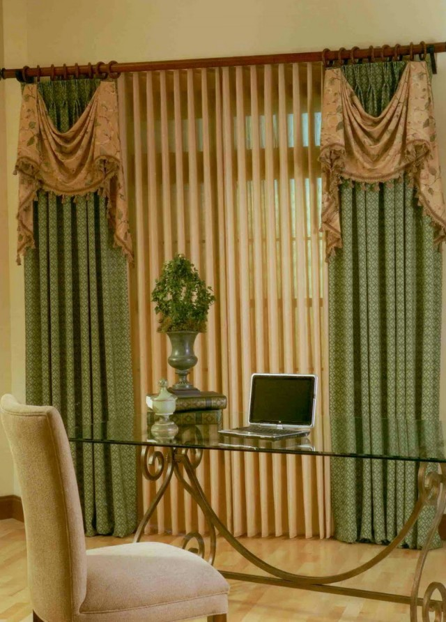 Blinds With Curtains Together