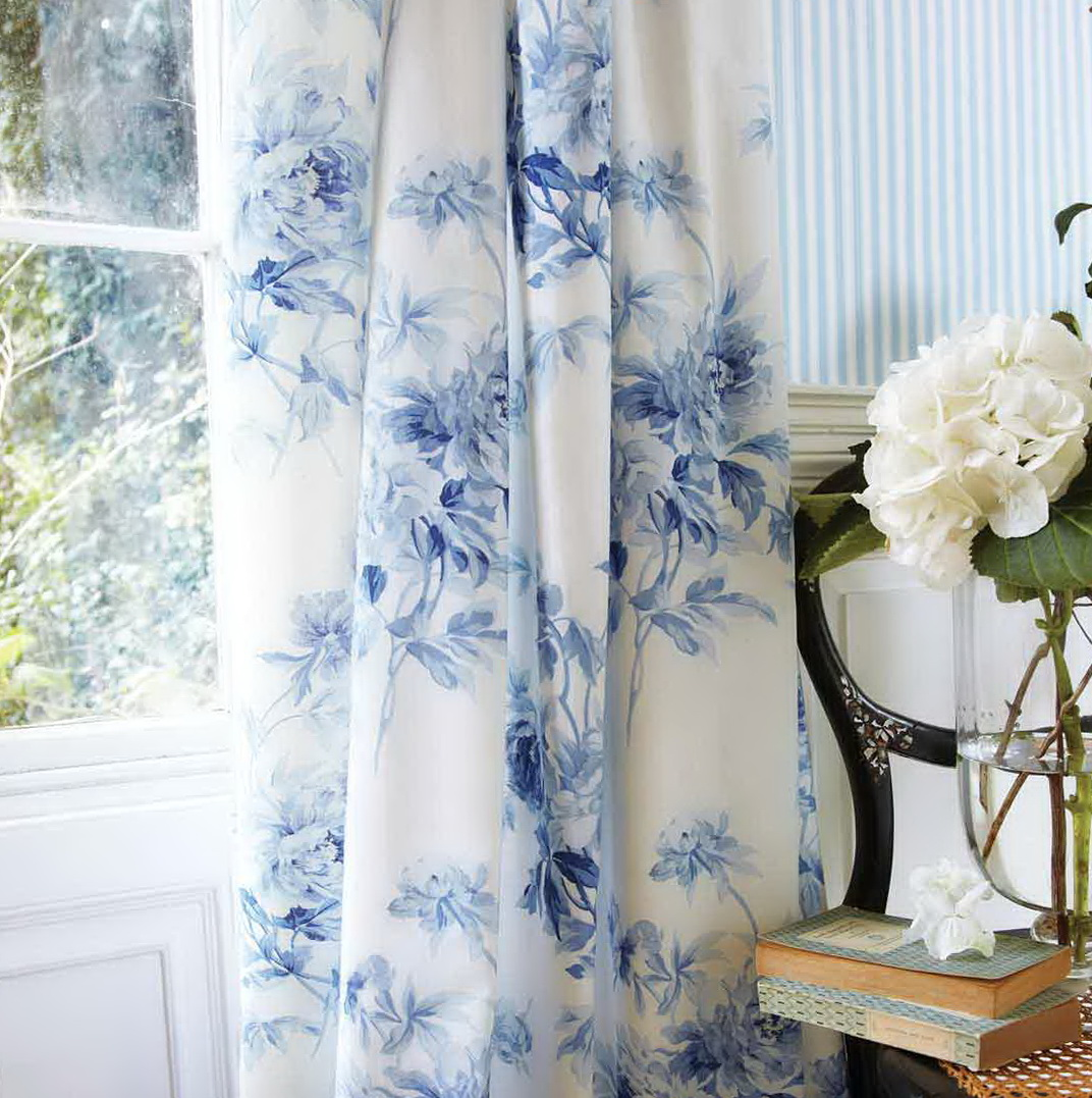 Blue Bedroom Grey Curtains