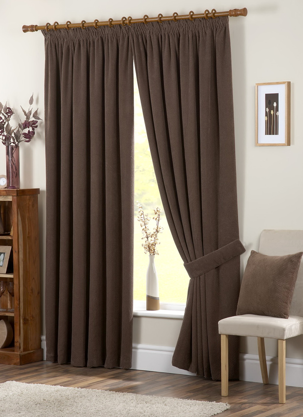 Chocolate Brown Eyelet Curtains