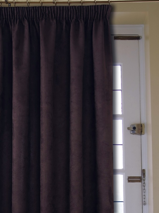 Chocolate Brown Velvet Curtains