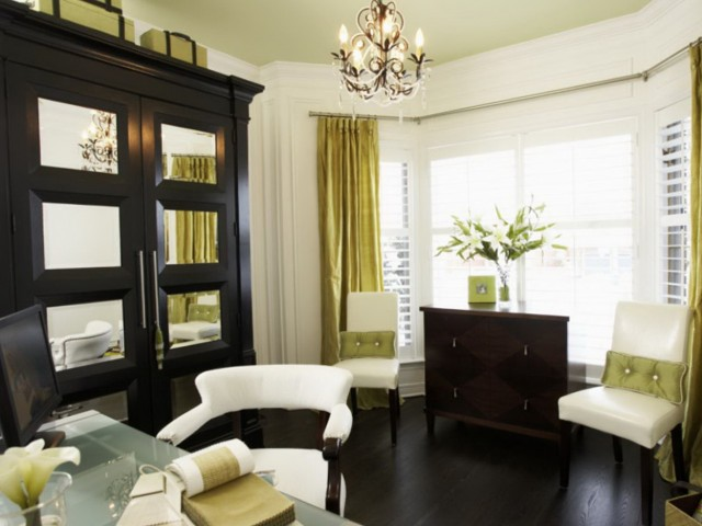 Contemporary Bay Window Curtains