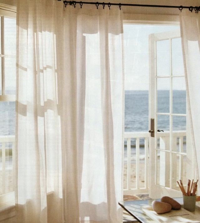 Curtains Over French Doors