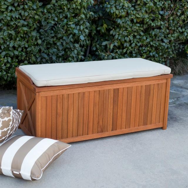 Cushion Storage Bench Outdoor