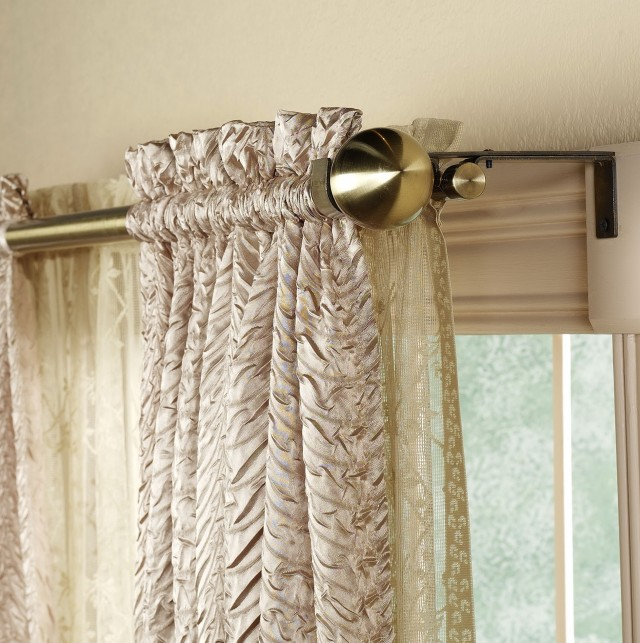 Double Curtain Rod Ideas