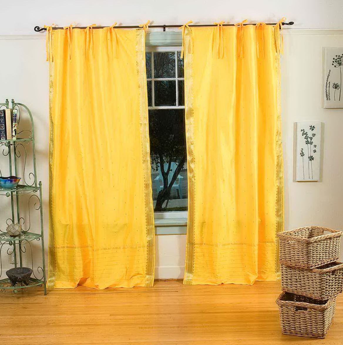 Embroidered Sheer Curtains India
