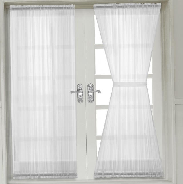 French Door Sheer Curtain Panels