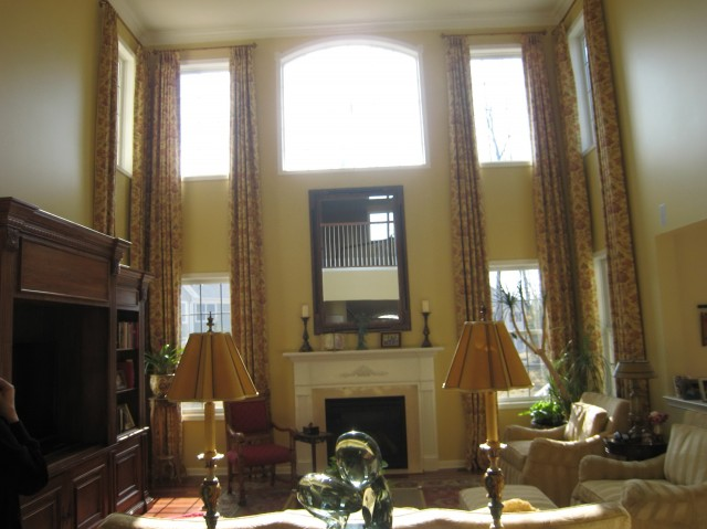 High Ceiling Living Room Curtains