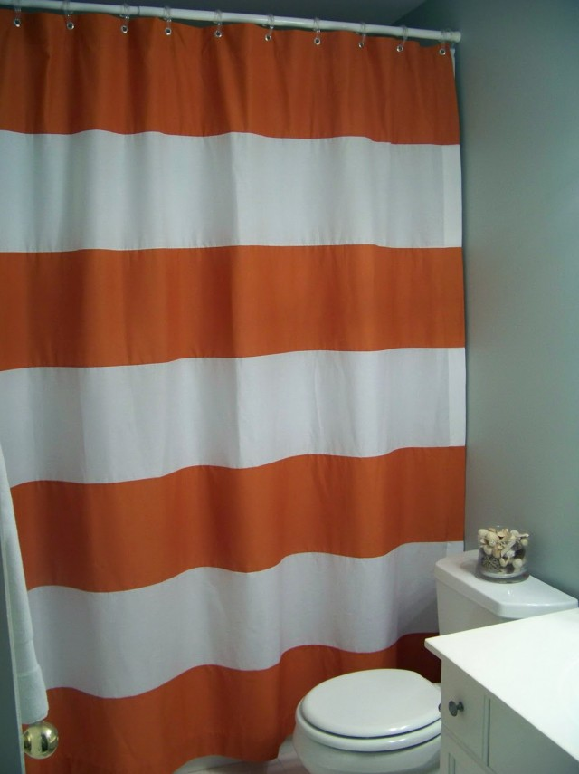 Horizontal Striped Shower Curtains