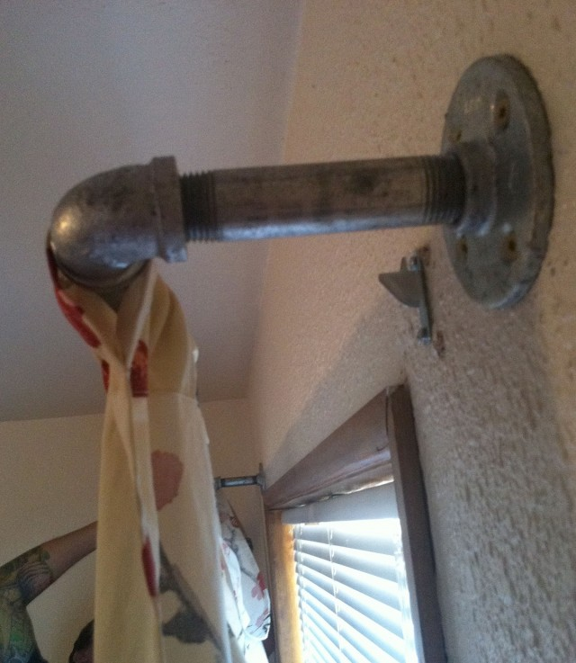 Industrial Pipe Curtain Rod Diy
