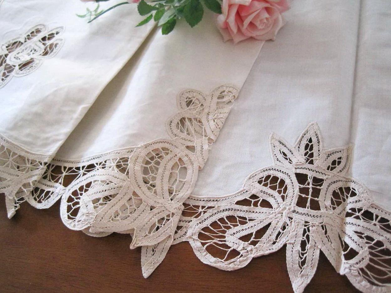 Lace Cafe Curtains Cotton