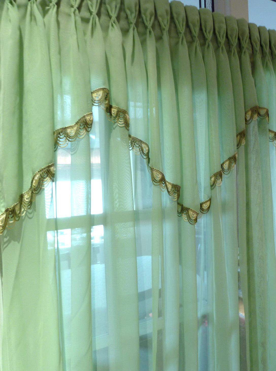 Mint Green Window Curtains