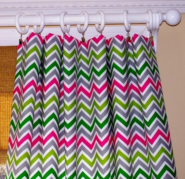 Multi Color Chevron Curtains